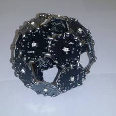 The truncated icosahedron, a.k.a., a soccer ball, is a special spherical shape that can be constructed using Hexabitz modules. What cool projects would you use it for?