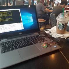 Hexabitz loves to Starbucks! You can spot it occasionally in coffee shops around Seattle. Small, tidy & beautiful, you won't be embarrassed by your hardware prototypes anymore!