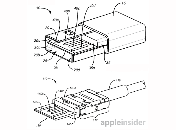 Apple's reversible USB connector appears in patent