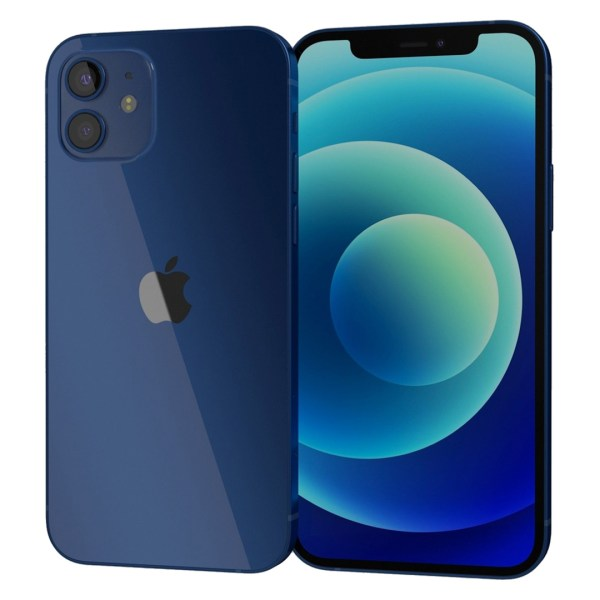 iPhone 12 blue dupla angulo