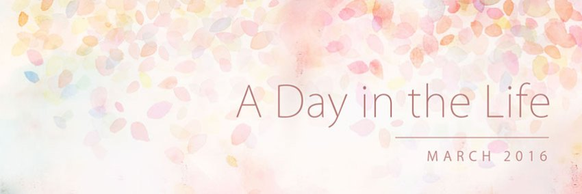 A Day in the Life: March 2016 Banner
