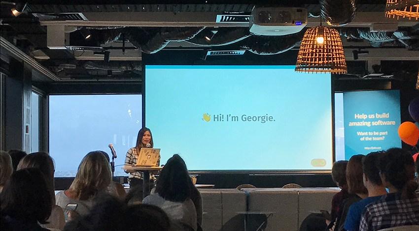 Me speaking at Girl Geek Sydney