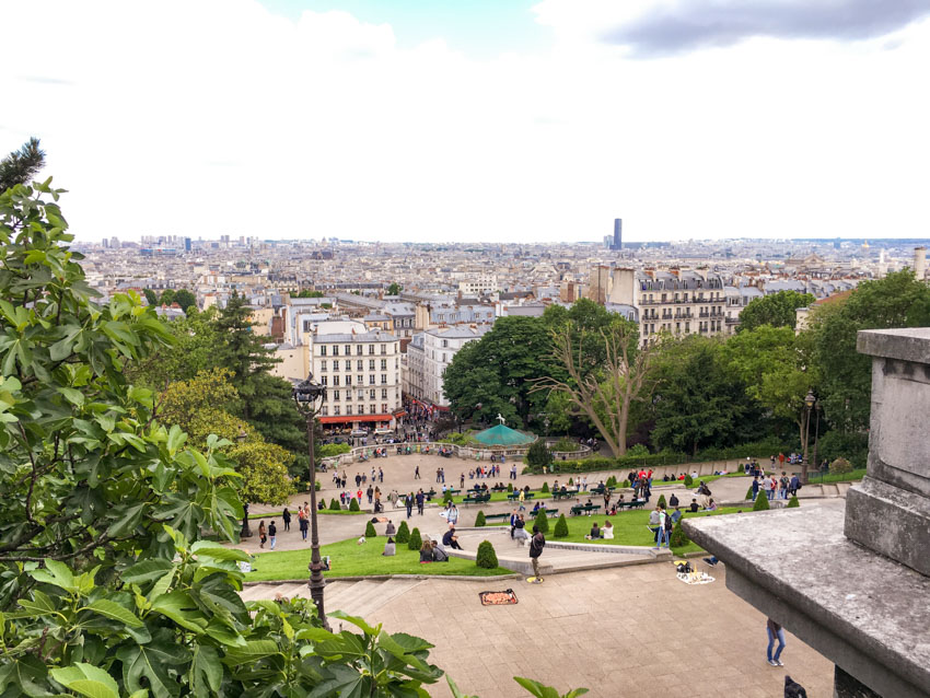 The view of Montmartre from the top of the hill