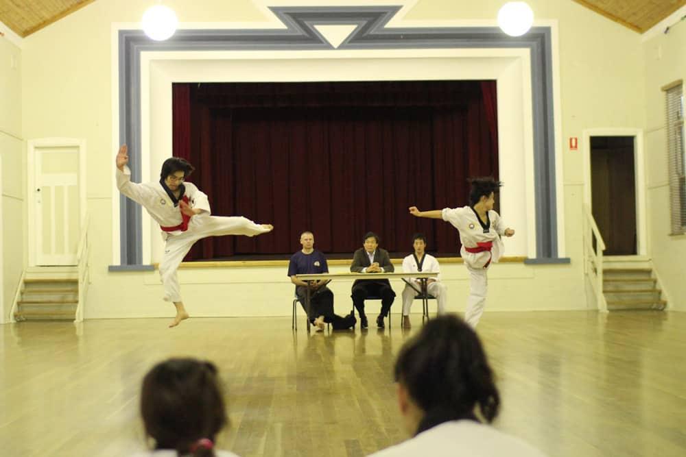 Brandon doing taekwondo