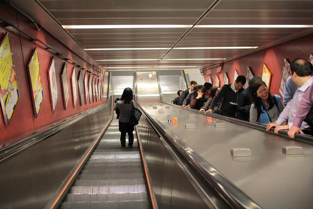 Escalator in the train station