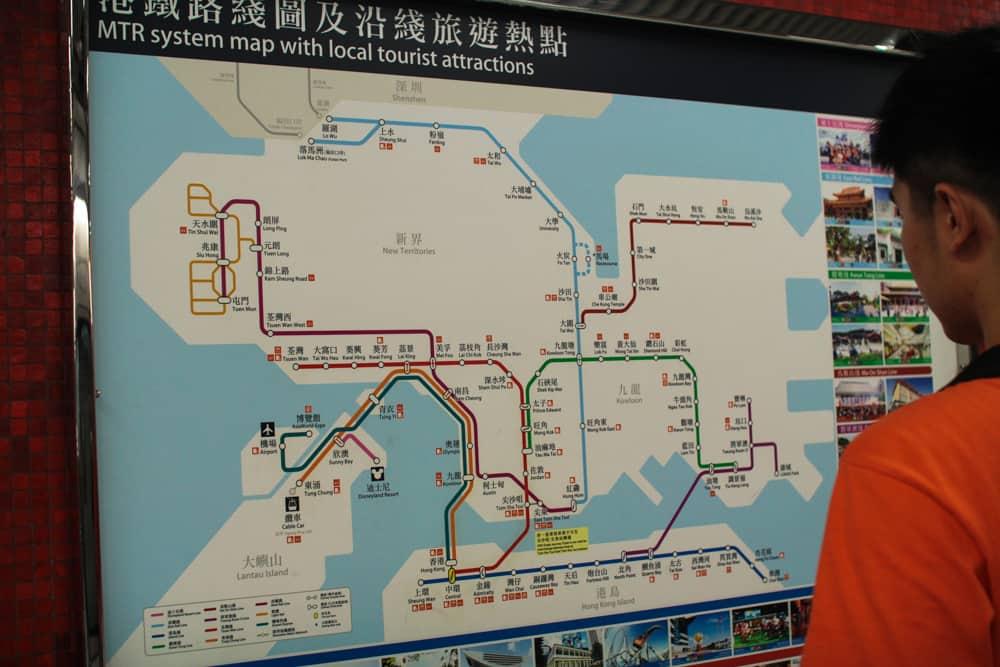 Train network map