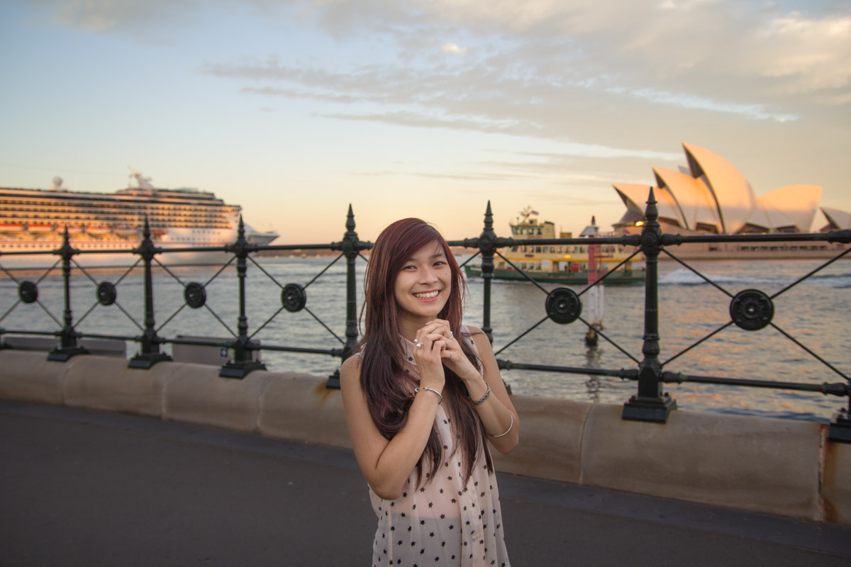 Sydney Opera House in the background