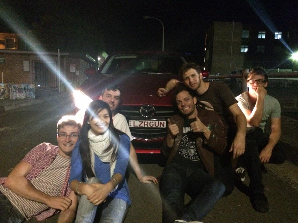 Me with my car and the boys from Hey Geronimo