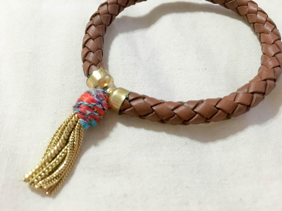 Close up of the bracelet