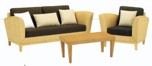 ラタンのソファ&リビングテーブルでアジアンスタイルコーデ