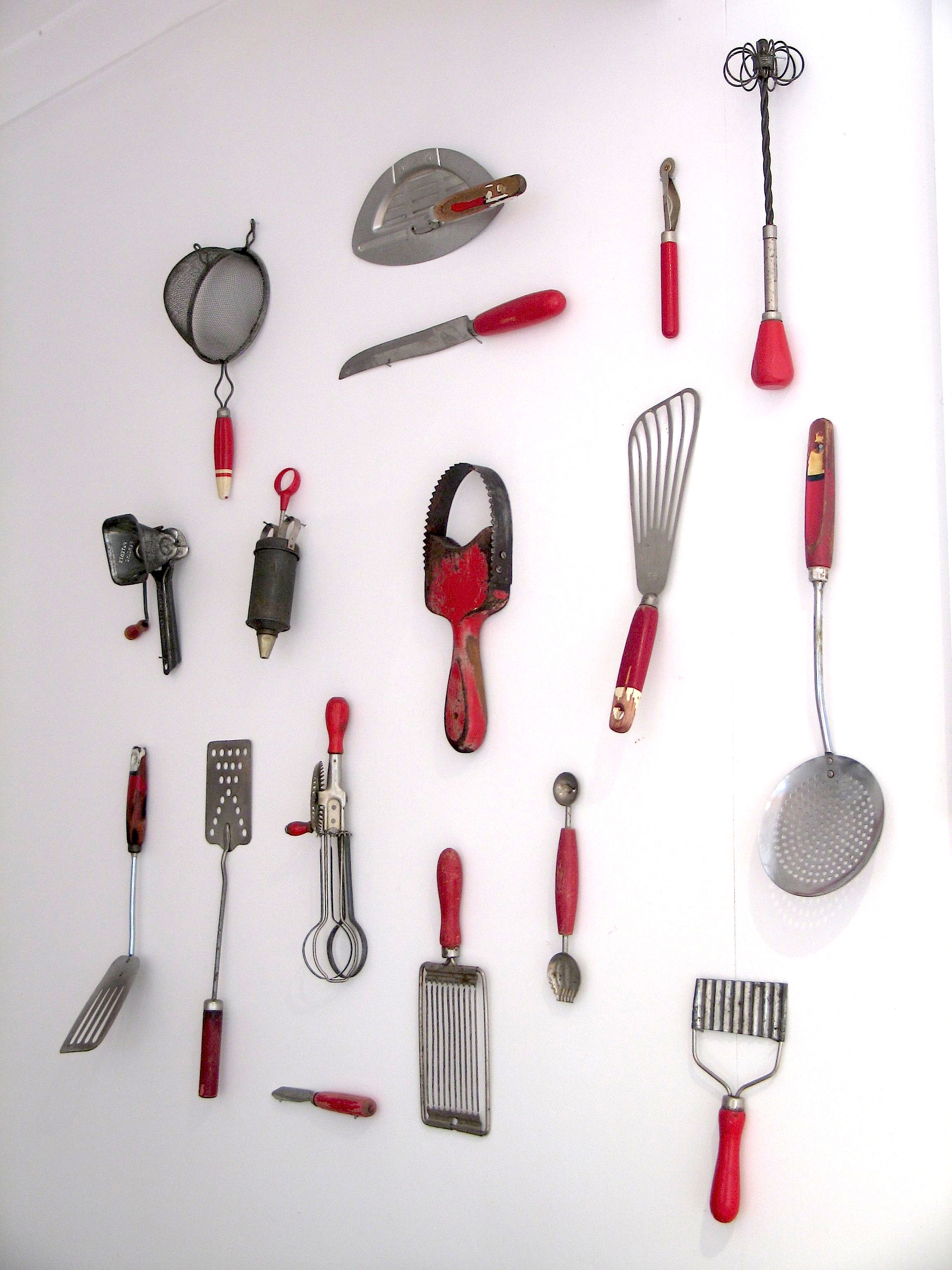 kitchen cooking utensils touch faucet reviews i have completed my kitchenalia wall collection of red
