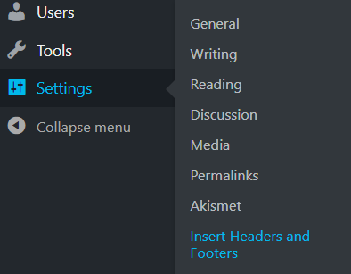 How do I Install my Google Analytics - WordPress Menu