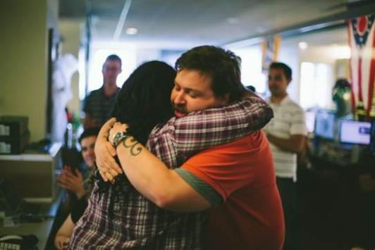 Me and Dan Ryan on my last day as an intern