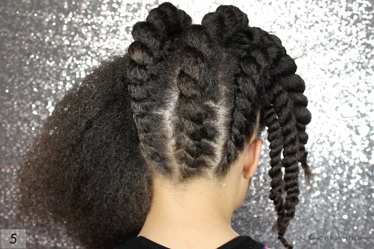 Gorgeous Natural Hair Flat Twist Updo Hey Chrishinda