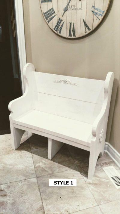 Pew Bench Style 1