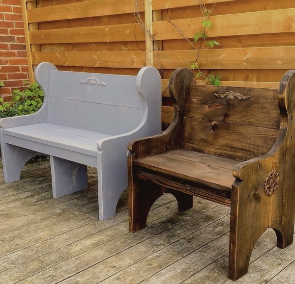 Country Farm Pew Style Benches