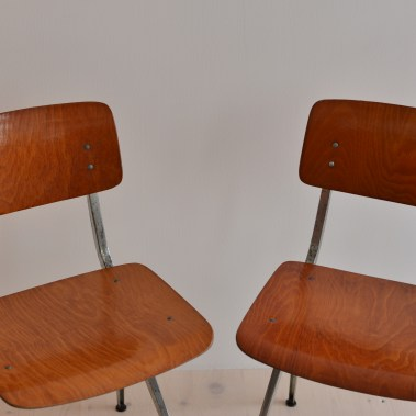 Pair of Friso Kramer Industrial Chairs