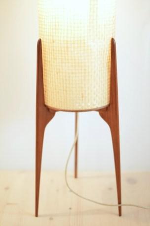 Danish Teak Tripod Floor Lamp