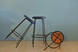 Three Retro Barstools