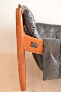 Sergio Rodrigues Sheriff / Mole Chair with Ottoman