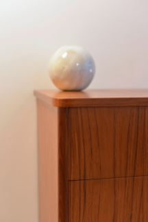 Teak Dresser with Brass Capped Legs