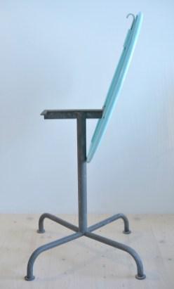 Arctic Blue Vintage Garden Table Stahlrohr heyday möbel Zürich Binz
