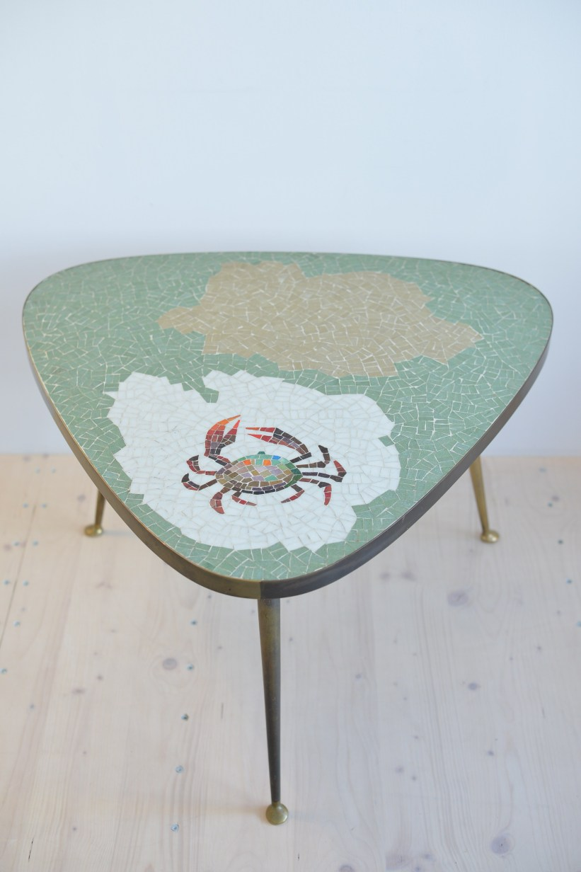 Crab Mosaic Cocktail Table heyday möbel moebel Zürich Zurich Binz Vintage