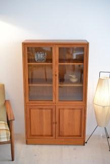 Teak Glass Cabinet Denmark 1960s heyday möbel moebel Binz Zurich