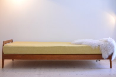 Teak and Cane Daybed Swiss Production 1960s