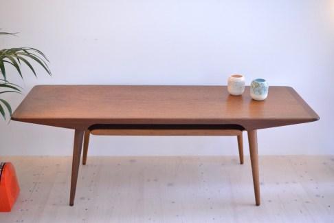 Aase Dreieri Möbler Teak and Afromosia Coffee Table Removable Tray Norway heyday möbel moebel Zurich Zürich Binz