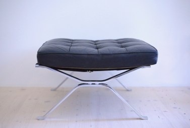 Robert and Trix Haussmann Ottoman Leather and Chromed Flat Steel De-Sede RH-301