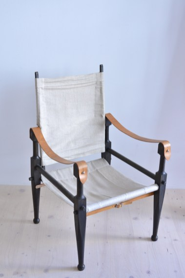 Kienzle Safari Chair Set with Canvas Switzerland 1930s heyday möbel moebel Zürich Zurich Werkhof Binz
