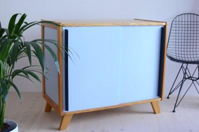 Sky Blue Elm Cabinet Sideboard heyday möbel moebel Zurich Zürich Binz Werkhof