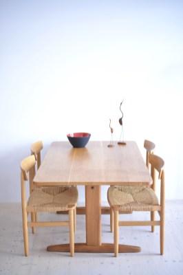 Borge Mogensen Oak Shaker Table by CM Madsen Denmark 1960s heyday möbel moebel Zurich Zürich Binz and Altstetten