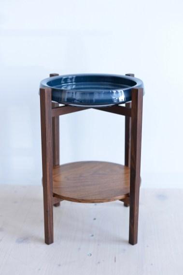 Rosewood Plant Stand Knabstrup Pottery Bowl heyday möbel