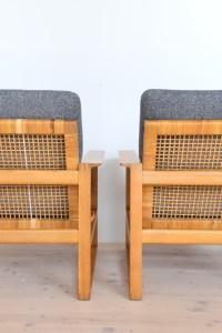 Danish Borge Mogensen Lounge Chairs 2256 Oak 1956 Fredericia Denmark heyday möbel heydaymoebel Binz Zürich Switzerland