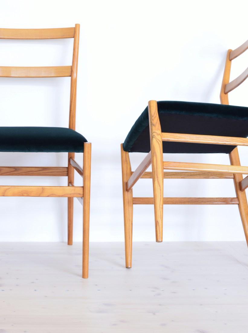 Gio Ponti Leggera Dining Chairs Cassina 646 Green Velvet heyday möbel Zürich Binz Zurich Switzerland