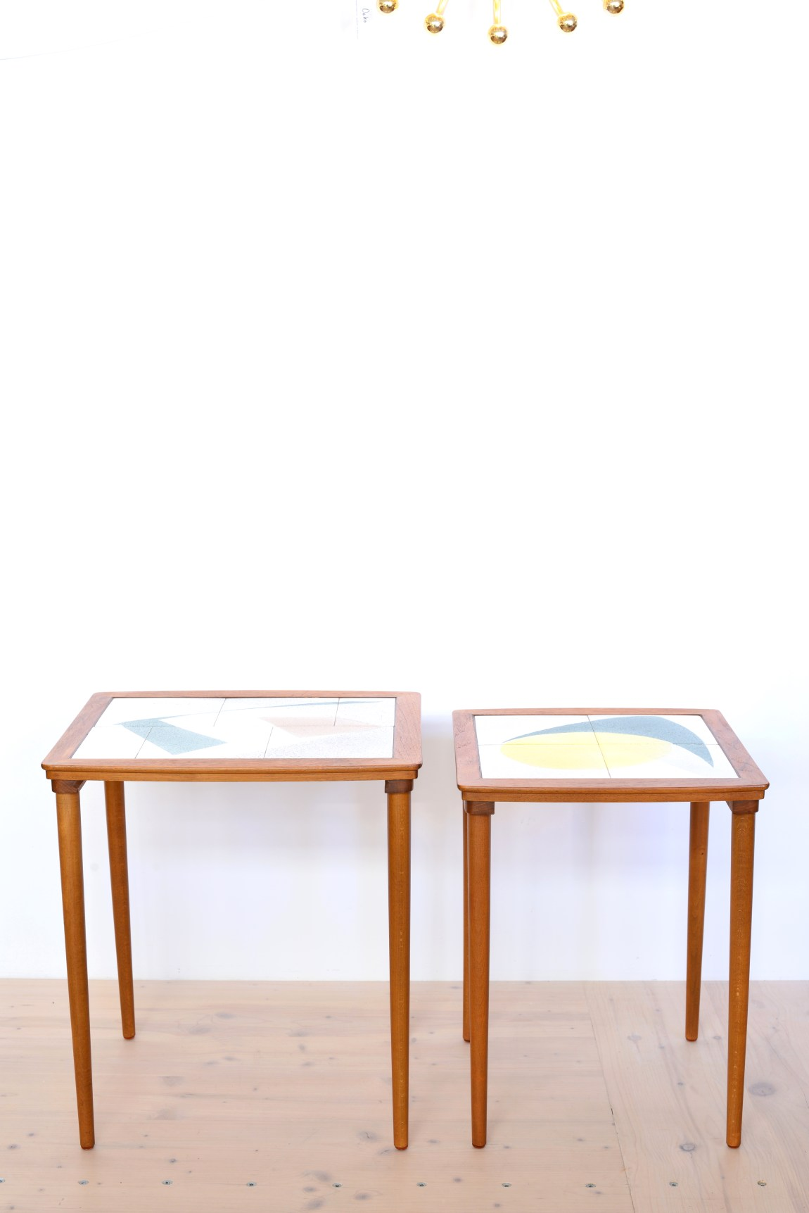 Nesting Table Duo with Tiled Surface heyday möbel Zürich