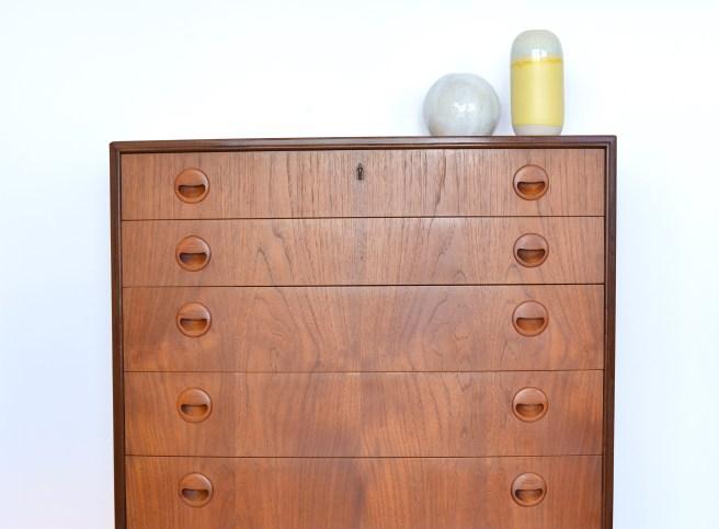 Teak Bow Front Dresser Denmark 1960s. Available at heyday möbel Zürich Binz