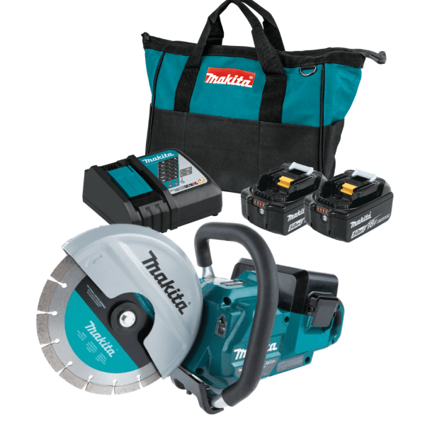 Makita XEC01Z 9 inch power cutter with 2 battery starter kit