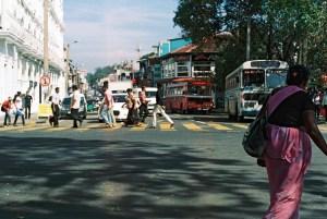 Busy street, near the Queen's Hotel in Kandy, Sri LAnka