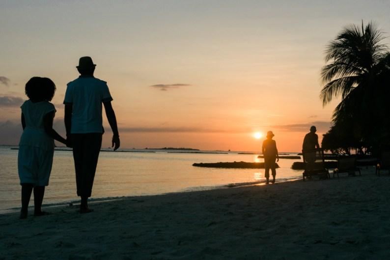 Maldives Sunset Romance Honeymoon