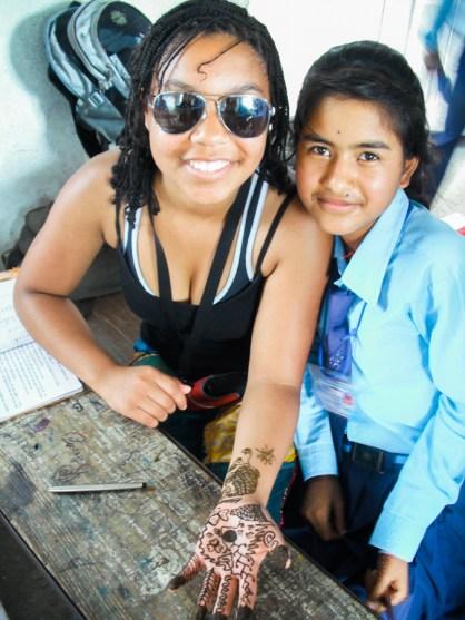 Nepal Adventure Henna Girls