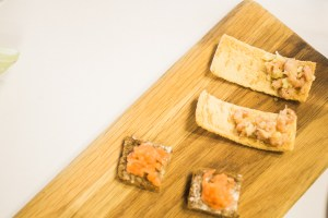 Coln Valley Smoked Salmon on Ryer at Billingsgate Market Seafood School