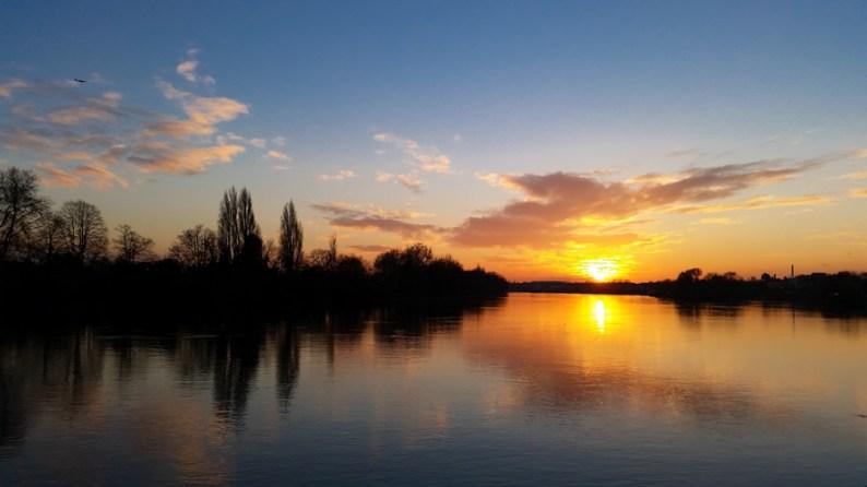 Autumn Sunset Inspirational Life Lessons, Hammersmith, London