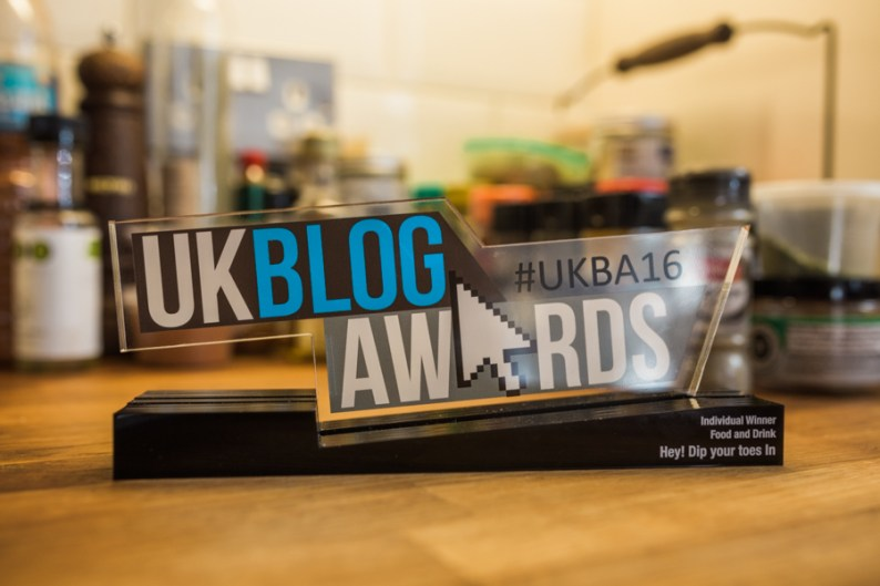UKBA16 Winner of Best Food and Drink Award