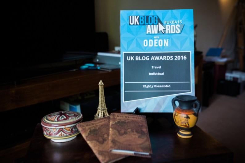 UKBA16 Award Ceremony Travel Commendation