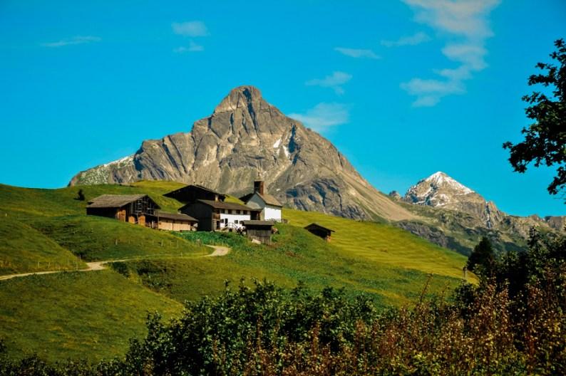 Bürstegg Farm Settlement Arlberg Austria Alps