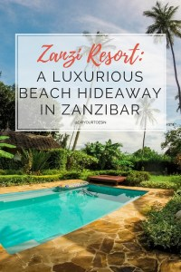 Zanzi Resort Zanzibar Review PINTEREST