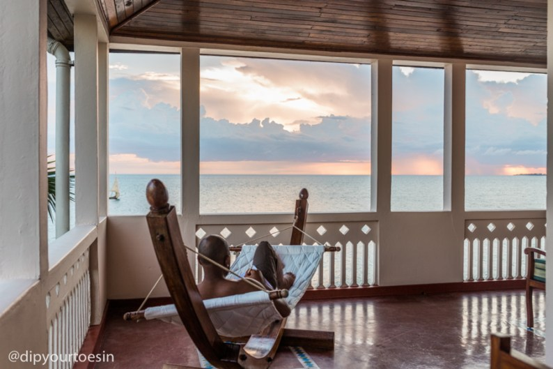 Hammock in King Room at Zanzibar Serena Hotel